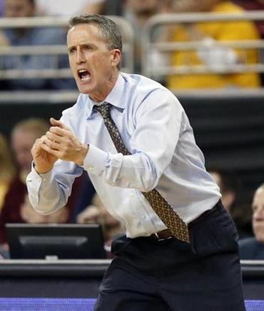 Boston College coach Steve Donahue was intent as he yelled instructions to his players during the first half against Pitt.